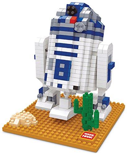 Figura R2D2 Star Wars armar minibloques. 569 bloques