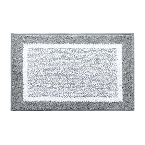 Heimtextilien, grün und grau einfache teppich badezimmer wohnzimmer rutschfeste saugfähigen matten 45 * 60 cm ( Größe : 50*80-gray )