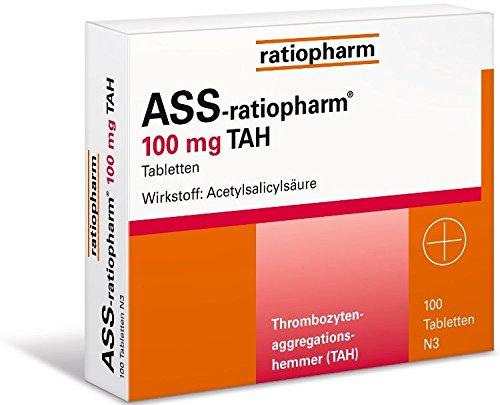 ASS-ratiopharm 100 mg TAH Tabletten, 100 St. (100 Tabletten)