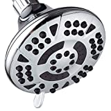 AquaDance High-Pressure 6-setting 4.15-inch Shower Head for the Ultimate Shower Spa Experience! /