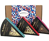 Gourmet Chocolate Pizza Slices Selection Gift Box - 3 Individual Slices - Jelly Bean Jumble, Crunchy Munchy & Heavenly Honeycomb - Hamper Exclusive To Burmont's