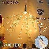 Kreative Dekoration Feuerwerk Lichterketten, Morbuy Batterie Kupferdraht Hängeleuchte 200 LED 8 Modi Fernbedienung Deko Licht für Weihnachten Hochzeit Party Zuhause Fenster Bar