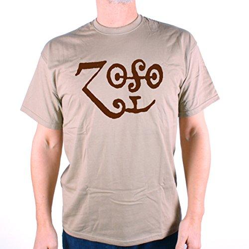 Zoso T Shirt - Original Saturn Logo 1660 as adapted by Jimmy Page Herren (Zoso Shirt)