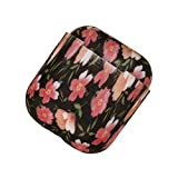 Altsommer Kopfhörer Stoßfest Aufbewahrungsbox Tasche mit Bunter Blumen Muster Silikon Schutztasche für Ohrhörer Kopfhörer Trage Box Kopfhörer Praktische Tragetasche für Apple (C)