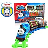 #7: Watermelon Thomas Cartoon Train Track Toy Set (11 pcs) for Kids Aged 3 Years and Above