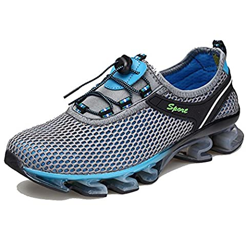 FY Men's Beach Shoes Quick Dry Breathable Mesh Outdoor Lightweight Running Shoes,Gray,UK9.5