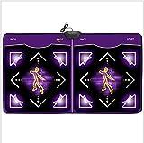 wly&home Pista de Baile Doble/Pista de Baile Wii/computadora/TV de Doble Uso, Almohadilla de Danza de la Manta de Baile de la pérdida de Peso de la Familia