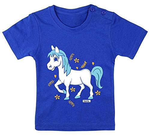 HARIZ Baby T-Shirt Pferd Pony Süß Tiere Zoo Plus Geschenkkarte Royal Königs Blau 3-9 Monate / - König Geburt Kostüm