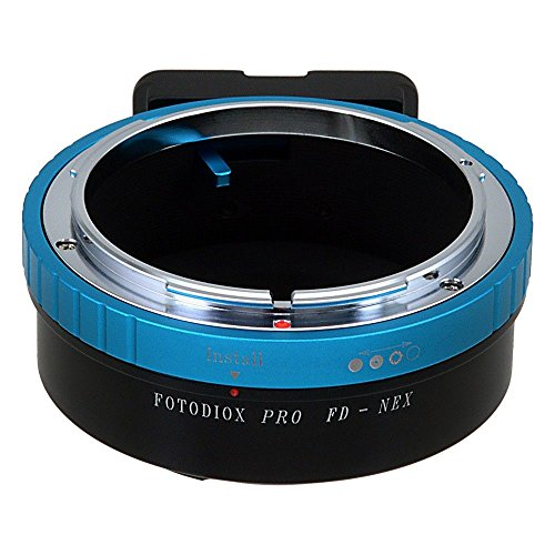 Fotodiox Pro Lens Mount Adapter, Canon FD (Old FD, New FD & FL) Mount Lenses to Sony E-Mount Mirrorless Camera Adapter - for Sony NEX & E-mount Camera Bodies (APS-C & Full Frame such as NEX-5, NEX-7 & α7) - Nex Body