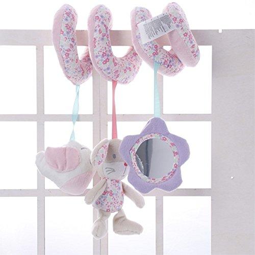 JYSPORT Cochecito de bebé para bebé juguete en espiral para llevar a cabo actividades en el coche juguetes para asiento de coche para colgar en la cama juguetes de felpa para bebés