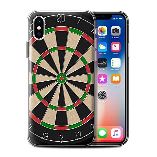 Stuff4 Gel TPU Hülle / Case für Apple iPhone X/10 / Pack 6pcs / Spiele Kollektion Darts/Dartpfeile
