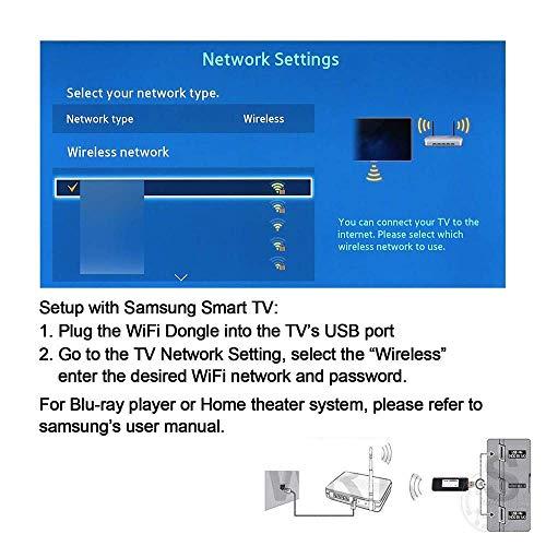 51q0z8q6PCL - Adaptador Wi-Fi inalámbrico USB para televisión, Fancartuk 802.11ac de doble banda 2,4 GHz y 5 GHz, adaptador USB de red WiFi inalámbrico para smart TV Samsung WIS12ABGNX WIS09ABGN 300M