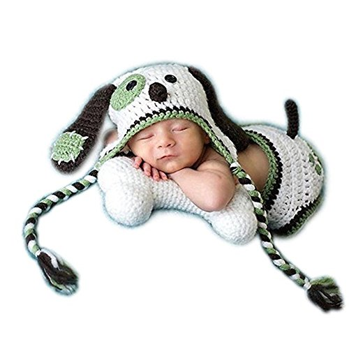 Neugeborenen Babyfotografie Props Kostüm Jungen Mädchen Baby Fotografieren Fotoshooting Set Requisiten Accessoire Welpe Hut (Kostüme Baby Welpen)