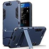 Coque Honor 9, Terrapin Double Couche Étui Rigide avec Fonction Stand pour Huawei Honor 9 Étui - Bleu Foncé