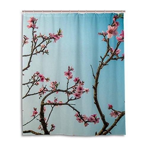 My Daily Einzigartige Peach Blossom Wasserdicht Badezimmer Decor Polyester Duschvorhang 152,4x 182,9cm - Peach Blossom Dusche