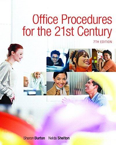 Office Procedures for the 21st Century, Edition: 7 by Nelda Burton Sharon & Shelton (2008-07-30)
