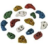 ALPIDEX 15 Klettergriffe Größe XS - für geübte Kletterer, Farbe:bunt