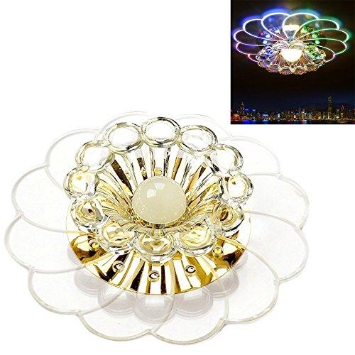 sundautumn lampada cristallo di Soggiorno/Plafoniera LED colore di forma fiore Magnifico bianco