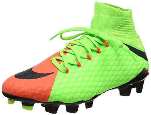 Nike Herren Hypervenom Phatal III DF FG Fußballschuhe, Mehrfarbig Électrique/Hyper Orange/vert Volt/Noir, 43 EU (Fußballschuh Hypervenom Nike)