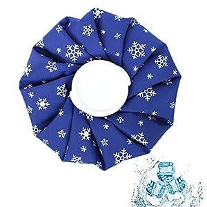 Amacoam Eisbeutel Befüllbar Kühlbeutel Wiederverwendbar Kühl-Eisbeutel Wärmflasche 9 Inch für Kopf Rücken Hals Schulter…