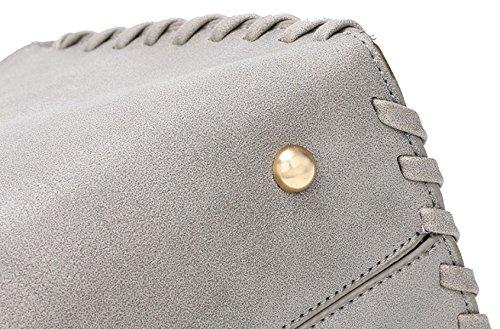 ZPFME Frauen Umhängetaschen Herbst Und Winter Mode Handtasche Weben Quadratische Tasche Party Retro Bankett Mode Umhängetasche Grey