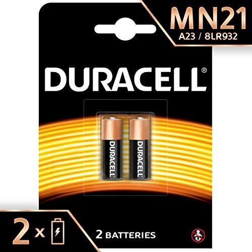 Duracell A23 / 23A / V23GA / LRV08 / 8LR932 Specialty Alkaline MN21 Batterie 12V (entwickelt für die Verwendung in Fernbedienungen, Funktürglocken und Sicherheitssystemen) 2er-Packung Duracell Alkaline-batterie