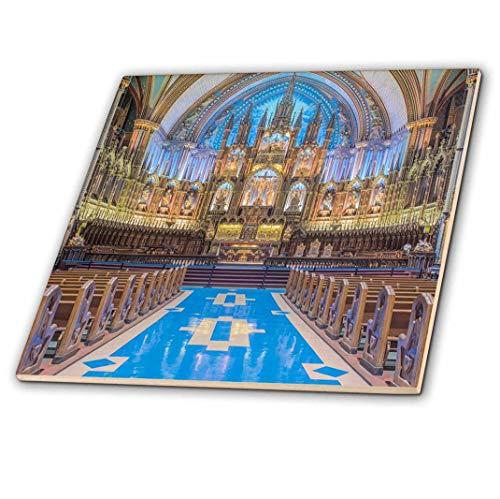 3drose Kanada, Quebec, Montreal, Notre Dame Basilika.–Glass Tile, 20,3cm (CT _ 209488_ 7), 20,3cm