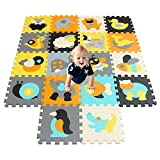 XMTMMD Schaumstoff Puzzle Matte Fruits Baby Gym Puzzle Spielmatte Kids Interlocking Soft Boden Fliesen Kinder Zimmer Play Bereich 18PCS AMP011014G301018