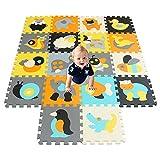 qqpp Puzzlematte ✔18 TLG. Kinderspielteppich Spielmatte Spielteppich Schaumstoffmatte Matte ✔ Kälteschutz ✔abwaschbar ✔bunt ✔phantasiefördernd QQP011014G301018