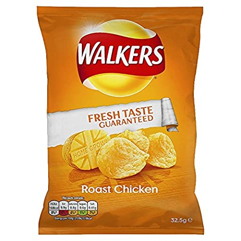 Walkers Roast Chicken Crisps 32.5 g (Pack of 32)