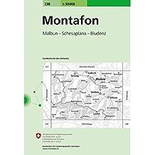 Swisstopo - Montafon 238T Wanderkarte 1:50 000 Topografische Karte