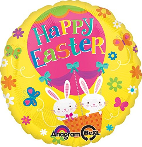 amscan Standard-C Ostern Hot Air Balloon Bunnies (Halloween Hot Rabbit)