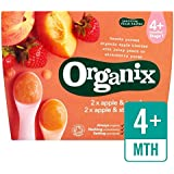 Organix Organic Variety Pack Apple & Strawberry / Apple & Peach Pots 4 x 100g