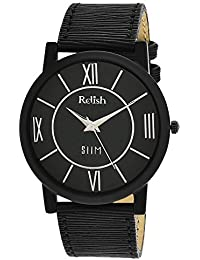 RELISH RE-S8010BB SLIM Black Dial Analog Watch For Mens & Boys