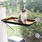 XinC Cat Hammock Ventana Ventosas de percas Cama para Gatos Descanso para Mascotas Seguridad en el Asiento Soporte para Gatos Tomar el Sol 360 Grados