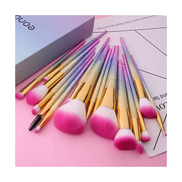 Eono by Amazon – Set de Brochas de Maquillaje 16Pcs Professional, Premium Pinceles de Maquillaje para Fundación Sonrojo…