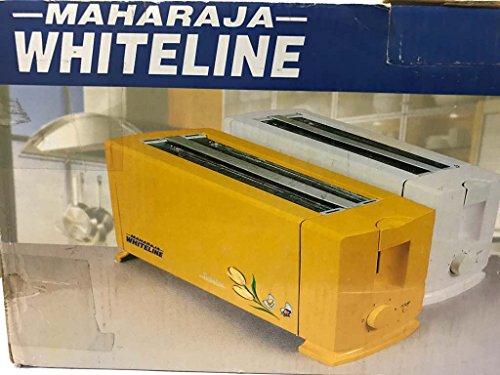 Maharaja Whiteline Electric Pop Up Toaster 4 Slice - 1300w