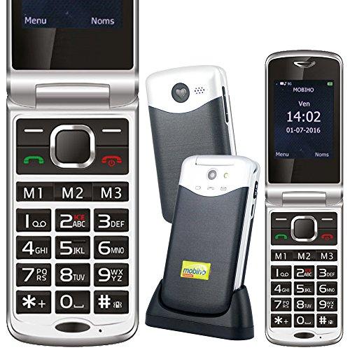 Mobiho-Essentiel Le Clap Elegant 2-3G, Un téléphone Senior clapet très Complet avec Un réseau...