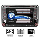 16GB SD Karte 7' AUTORADIO DVD GPS Für VW Golf 5/6,Passat,Tiguan,Polo,Jetta,Skoda Fabia, Octavia,Yeti, Seat Leon,Touran,Candy, Sharan,EOS, DAB+ VMCD Mirrorlink GPS Navigation USB SD BT 7 LED