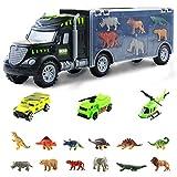Nuheby Voiture Enfant Dinosaures Jouet Camion Cars Transporteur, Jouet Dinosaure avec Voiture Miniature pour Enfant 3 4 5 Ans Fille Garcon Jeu Educatif Cadeau