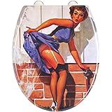 EISL ED69WOMAN Woman Abattant WC en Duroplast avec frein de chute/déclipsable