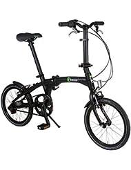 Beixo bicicleta plegable con correa de carbono- X-Town, Negro
