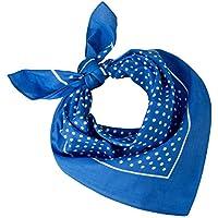 Tobeni 548 Bandana Head- Nicki-Cloth Neckerchiefs 100% Cotton Unisex Colour Small Dot Light Blue Size 54 cm x 54 cm