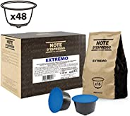 Note d'Espresso Extremo Coffee Capsules Exclusively Compatible with Nescafé* and Dolce Gusto* capsule machines 7g x 48 Capsu