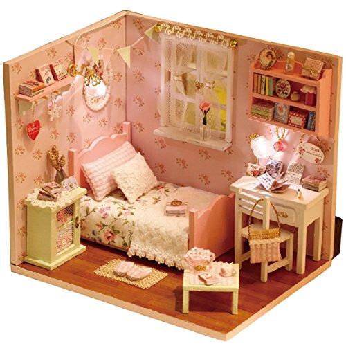 Dollhouse Miniature Kit DIY Maison de Poupée Mini Cadeau avec LED