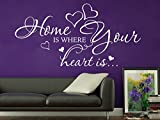 Klebeheld® Wandtattoo Home is Where Your Heart