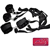 Tie Me Down Naughty Bedroom Kit - Bed Bondage Restraint Kit - Birthday, Valentine's Day Gift