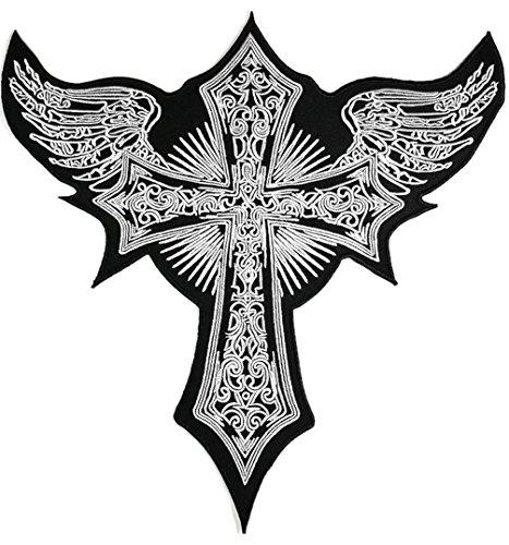 Christian Jesus Engel Flügel Feder Keltisches Jacket T Shirt Patch Sew Iron on gesticktes Badge Schild Kostüm (Diy Kostüm Flügel)