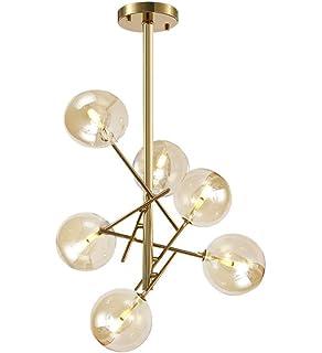 Lorena Modern 10 light Sputnik Black and Gold Linear Chandelier