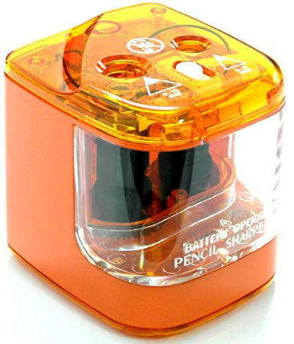 Jakar Double Hole Anspitzer Farbe Desktop Electric betrieben Main Batterie Orange Sharpener
